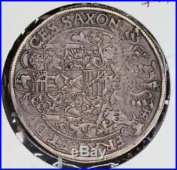 Germany 1593 Saxony Thaler silver taler Taler albertine line combine ship BU0314