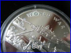 Gibraltar Isle of Man 1994 World at War Silver Proof 12 Coin Collection Set COA