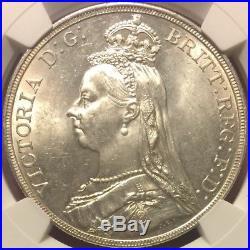 Great Britain 1889 Crown, NGC MS64 tough year