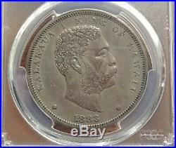 HAWAII Kingdom 1883 Silver Dollar Dala Kalakaua PCGS XF45 Deep Original Tone