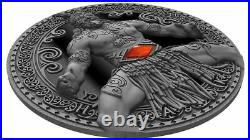 Haka World Cultures 2oz Antique finish and Black Proof Silver Coin Cameroon 2020