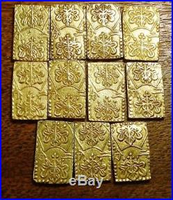 High Grade 1859-1869 Nibu Kin 2 Bu Large Japanese Gold Samurai Bar/coin