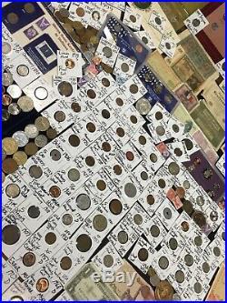 Huge Lot 450+Coin/StampSilver Certificate/Mercury/Buffalo/Indian/1892USA/World