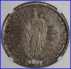 Hungary 1742 Maria Theresa Silver Thaler NGC AU50