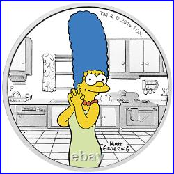 IN STOCK 2019 The Simpsons Marge Simpson 1oz $1 Silver 99.99% Dollar Proof Coin