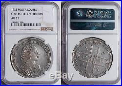 INi RUSSIA, ROUBLE, RUBEL, 1723, Silver, Peter I, NGC AU 53