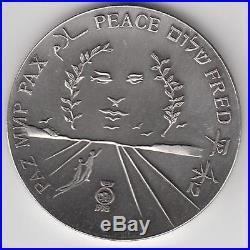 Israel 1978 Salvador Dali Peace Private Medal 100g Pure Silver 59mm + COA