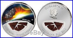 Jilin METEORITE silver coin! $10 Fiji, only 999 made! Cosmic Fireballs, CHINA