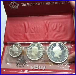 Jordan 1969 Silver 3 coins Proof set in Original holder+coa