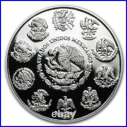 LIBERTAD MEXICO 2020 2 oz Proof Silver Coin in Capsule Mintage of 2,800