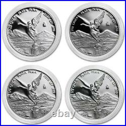 LIBERTAD MEXICO 2020 Fractional Set 1/2 1/4 1/10 1/20 oz Proof SILVER COINS