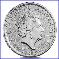 Lot of 10 2018 Great Britain 1 oz Silver Britannia Coin. 999 Fine BU