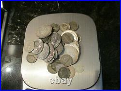 Lot of 48 Silver US and World Coins-10.6 Ounces-Mostly Circulated