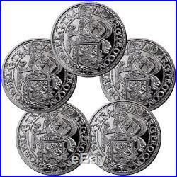 Lot of 5 2017 Netherlands Silver New York Lion Dollar Restrike Gem BU SKU52375