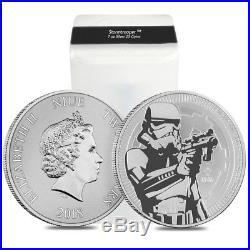 Lot of 5 2018 1 oz Niue Silver $2 Star Wars Stormtrooper BU