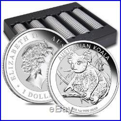 Lot of 5 2018 1 oz Silver Australian Koala Perth Mint. 9999 Fine BU In Cap