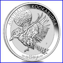Lot of 5 2018 1 oz Silver Australian Kookaburra Perth Mint. 999 Fine BU In Cap