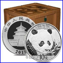 Lot of 5 2018 30 gram Chinese Silver Panda 10 Yuan. 999 Fine BU