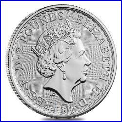 Lot of 5 2018 Great Britain 1 oz Silver Britannia Coin. 999 Fine BU