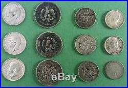 Lot of Mixed Silver World Foreign Coins 8.45 Troy Ounces ASW