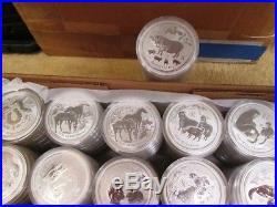 Lunar Series II Perth Mint Australia 2008-2019 Complete 12 Coin Set, 1 oz Coins
