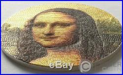 MONA LISA Da Vinci Great Micromosaic Passion 3 Oz Silver Coin 20$ Palau 2018