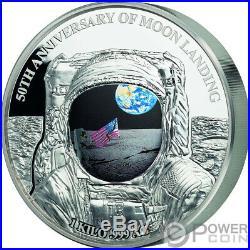 MOON LANDING Apollo 50th Anniversary 1 Kg Kilo Silver Coin 25$ Barbados 2019