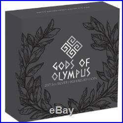MOUNT OLYMPUS GODS 2017 5 oz Pure Silver High Relief Antique Coin Perth Mint