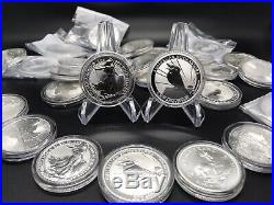 MUST READ NOTES! Lot of 7 2020 1 oz BU Fine Silver Coins From Around The World