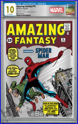 Marvel Comics Amazing Fantasy #15 Silver Foil Cgc 10 Gem Mint First Release