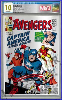 Marvel Comics Avengers #4 Silver Foil Cgc 10 Gem Mint First Release