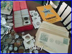 Massive Estate, Us/world Coins, Notes Jewelry, Postcards, Silver Medals/coins