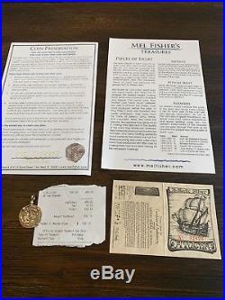 Mel Fisher 2R 14K Gold Pendant Silver Atocha Authentic Silver 1622
