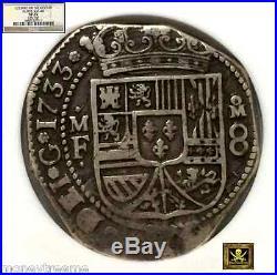 Mexico 1733 8 Reales Philip V Klippe Shape Fleet Shipwreck Silver Coin Treasure