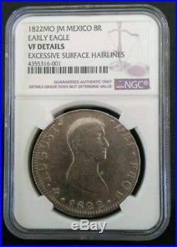 Mexico 1822 8 Reales NGC POLLITO Emperador Iturbide Silver Mexican Coin