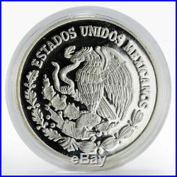 Mexico 5 pesos World Wildlife Fund Wolf Lobo silver proof coin 1998