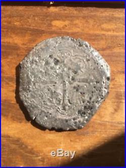 Mexico 8 Reales Silver Cob. 23.6 Grams