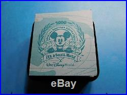 Mickey Mouse Disney 2000 It's A Small World 999 Silver Gold Coin 500 Mintage #b