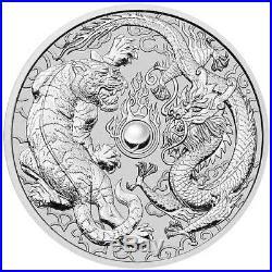 Mint Sealed Roll of 20 x 2018 Australia 1 oz Perth. 9999 Silver Dragon & Tiger