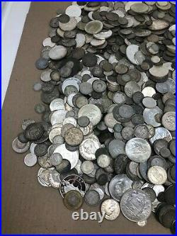 Mixed Foreign Silver Coins Lot 1 lb