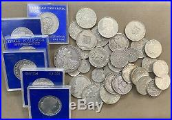 Mixed Lot of 42 world SILVER coins GERMANY, POLAND, AUSTRIA, RUSSIA