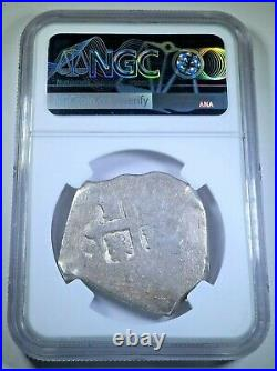 NGC 1706-14 Mexico Silver 8 Reales 1700s Spanish Colonial Dollar Pirate Cob Coin