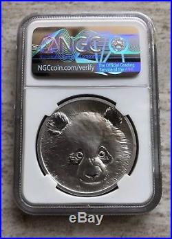 NGC PF70 2018 Beijing Coin Expo Panda Silver Giant Panda medal 30g COA&Silk Bag