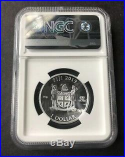 NGC PF70 2019 CAPTAIN AMERICA SHIELD 10Gram SILVER COIN FIRST RELEASES