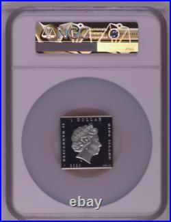 NGC PF70 Niue 2020 World Treasures Van Gogh Starry Night Colorized Silver Coin