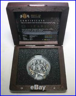 NIZARIS Assassins 2 Oz Silver Coin 5$ Niue 2019 ONLY 999 Worldwide Mintage