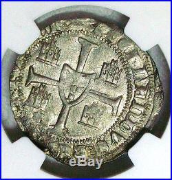 Nd(1367-1383) Portugal Fernando I Silver Barbuda Ngc Ms-61 High Grade Scarce