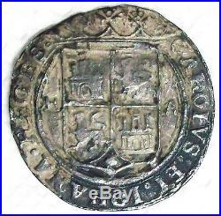Nd(1542-1555) M-a Mexico Carlos & Johanna Late Series Silver 4 Reales Scarce