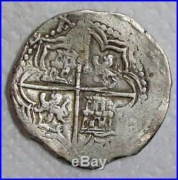 Nd(1613-1616)p-q Felipe III Silver Cob 8 Reales L@@k