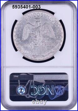 Ngc Uncirculated 1914 Mexico Caballito Peso-very Rare Date & A Lovely Coin #003